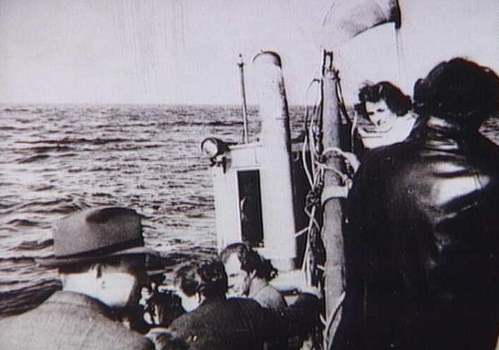 Датских евреев перевозят в Швецию. 1943 г.