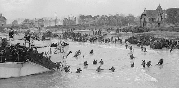 Высадка канадских войск на плацдарм «Джуно». 6 июня 1944 г.