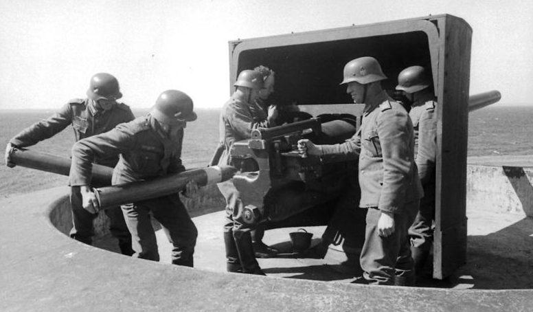 Укрепления Атлантического вала в Дании. 1943 г.