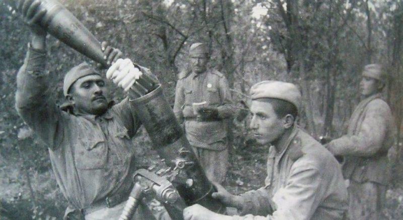 Уличные бои за город. 9 сентябрь. 1943 г.