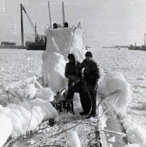 Обледенение. Немецкая подлодка «U-2». Декабрь 1940 г.
