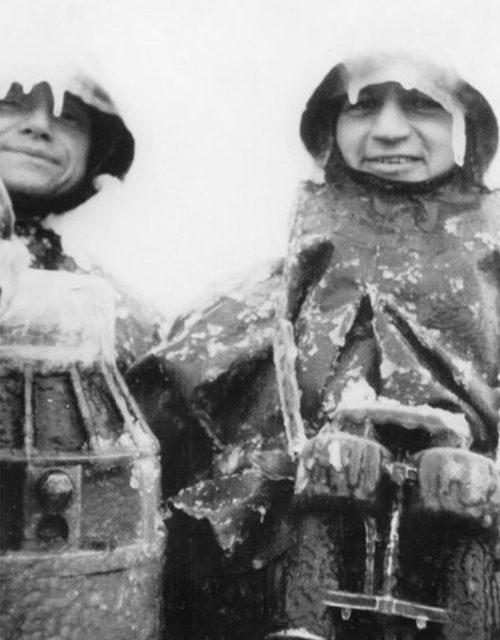 «Ледяной камуфляж» дежурной вахты подлодки «U-108». Январь 1944 г