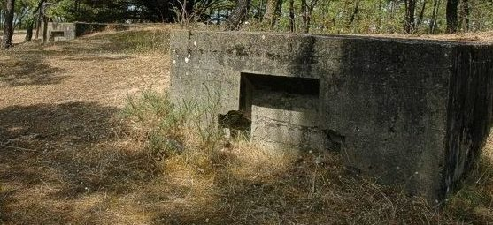 Бункеры для гарнизона батареи.