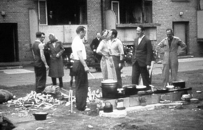 Бастующие Копенгагена. Июль 1944 г.