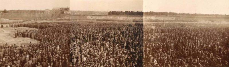 Сборный пункт советских военнопленных «Уманьская яма». Август 1941 г.