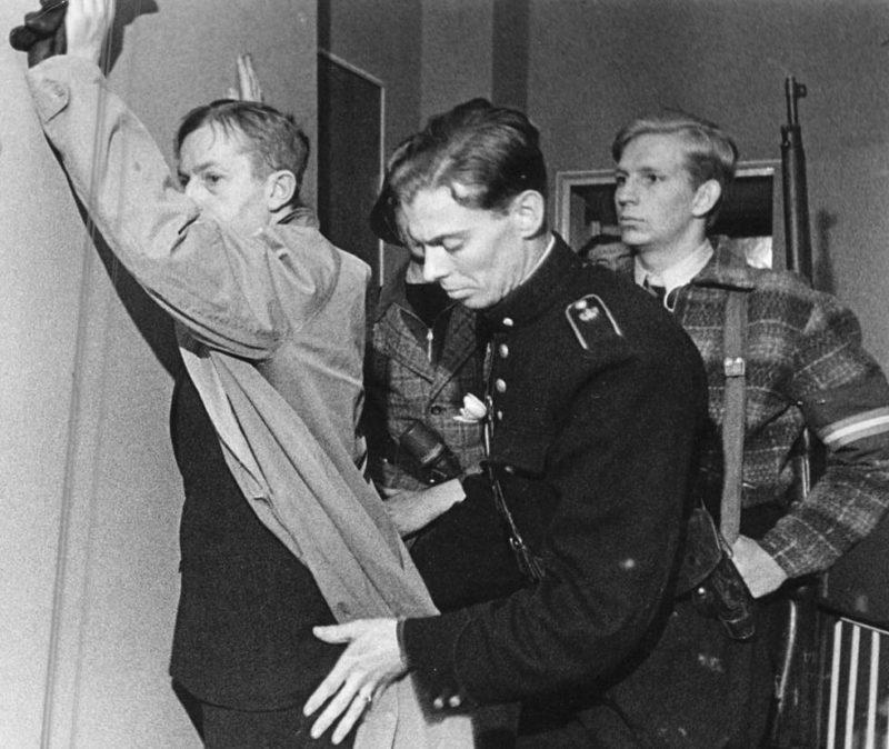 Участники Сопротивления в полиции. 1945 г.