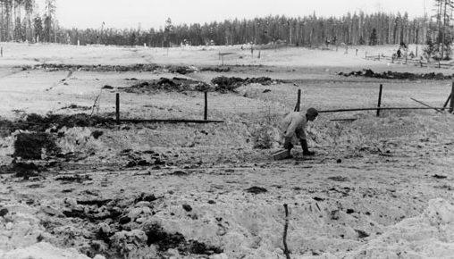 Доставка боеприпасов на финские позиции. Декабрь 1939 г.