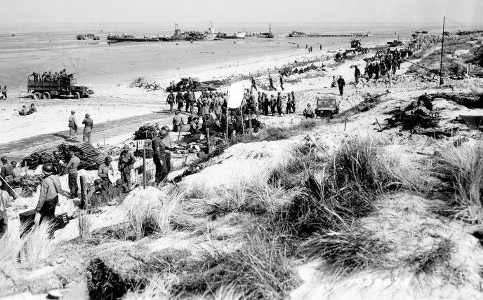 Вид на плацдарм «Юта». 6 июня 1944 г.