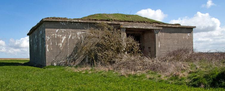 Бункеры для боеприпасов.