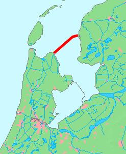 Схема расположения дамбы «Afsluitdijk».