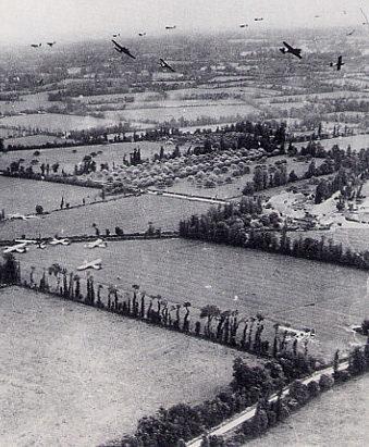Высадка американского десанта с планеров «Waco CG-4» и «Horsa». 6 июня 1944 г.