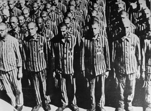 Голландские евреи — заключённые концлагеря Бухенвальд. Февраль 1941 г.