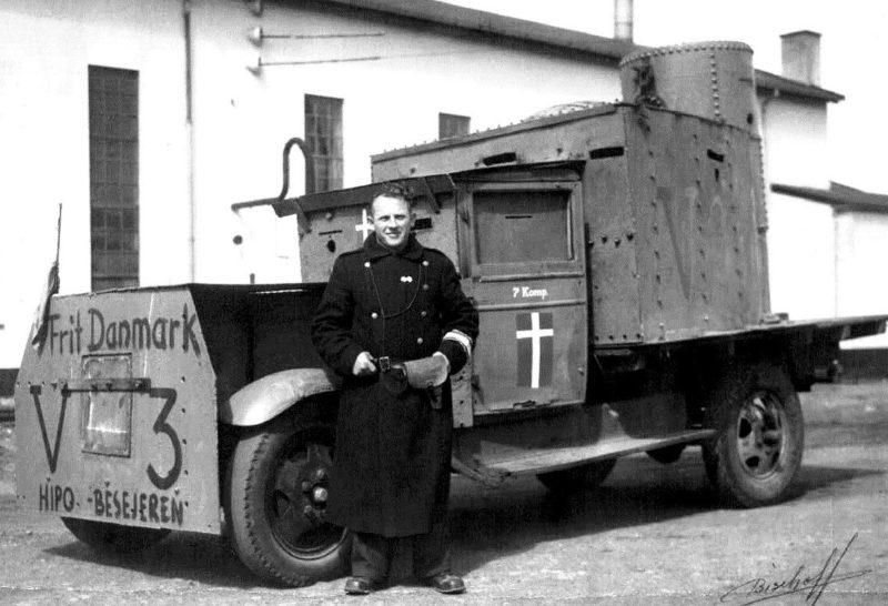 «Броневик» датского Сопротивления. 5 мая 1945 г.
