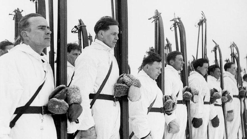 Финские лыжники. Январь 1940 г.
