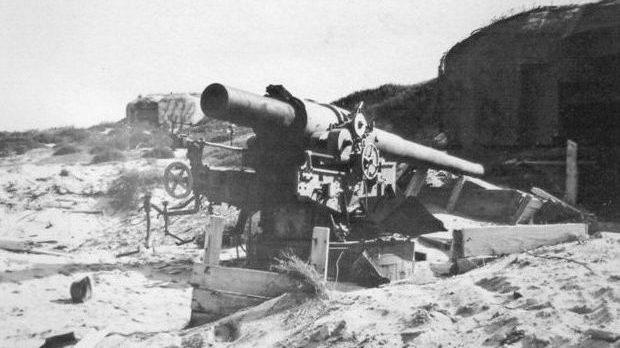 Вид на батарею в апреле 1945 года.