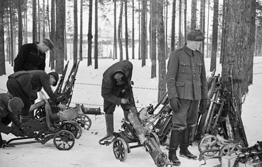 Финская школа пулеметчиков. Январь 1940 г.