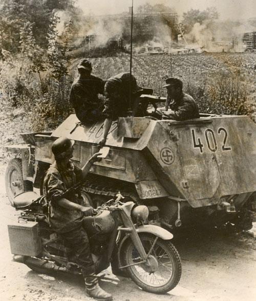 Голландские добровольцы 11-й панцергренадерской дивизии СС «Нордланд». 1942 г.