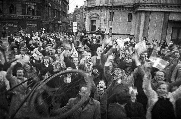 Празднование освобождения Дании в Копенгагене. 5 мая 1945 г.
