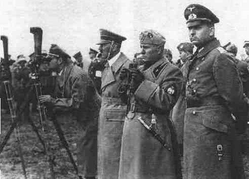 Гитлер и Муссолини в Умани. Август 1941 г.
