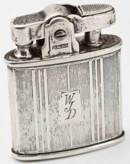 Зажигалка фирмы Ronson модели «Standard» с применением серебрения.