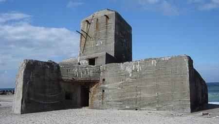 Бункер типа V174 для радара во время войны и сегодня.