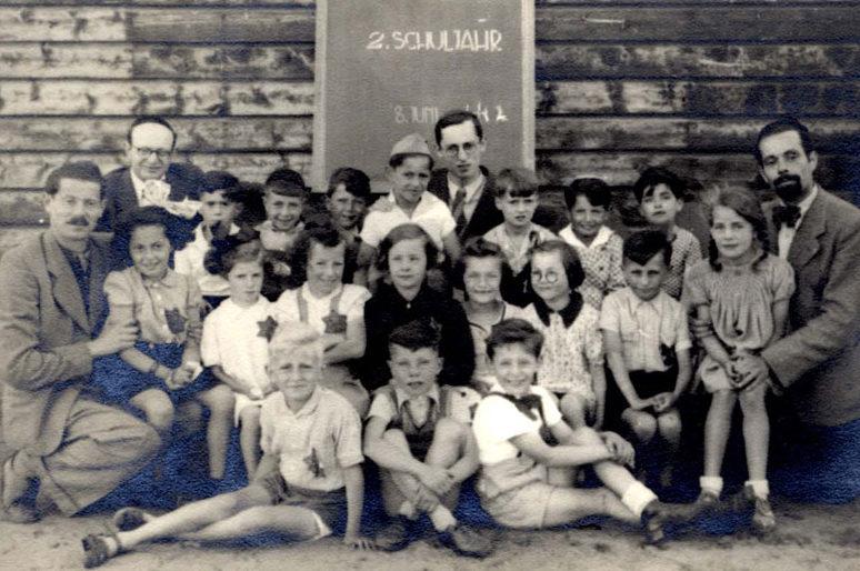 Еврейская школа в лагере. Вестерборк, 1943 г.