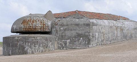Командный бункер типа 636 в годы войны и сегодня.