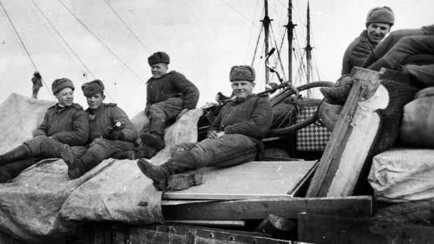 Советские войска, десантированные на остров Борнхольм. 9 мая 1945 г.