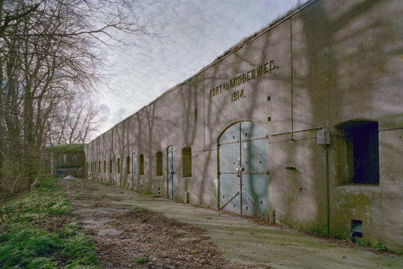 Внутренняя стена форта Middenweg.