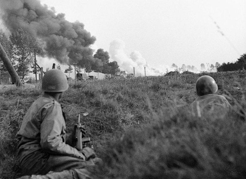 Бой союзников с немцами. Сентябрь 1944 г.