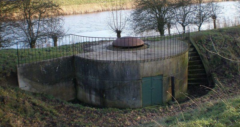 Орудийная башня с подъемным куполом форта Nigtevecht.