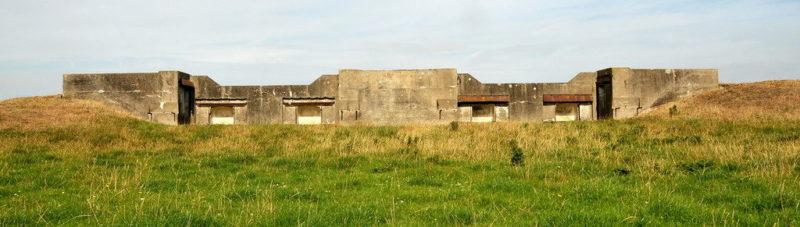 Казематы вспомогательной батареи форта Ham.