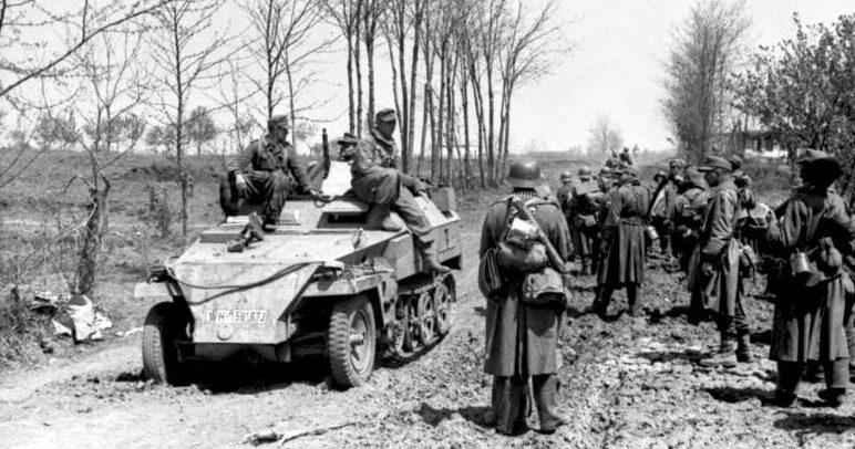 Немцы в обороне Умани. Март 1944 г.