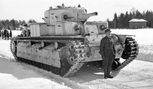 Советский танк на службе у финнов. Январь 1940 г.