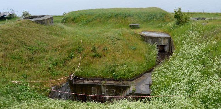 Бункеры на острове.