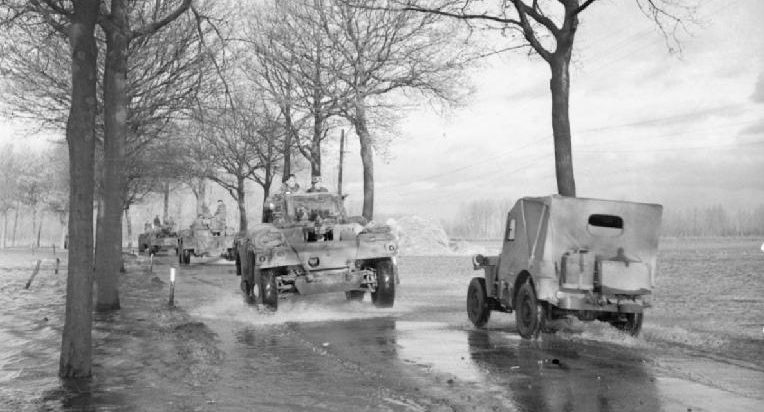 Британские войска между Биком и Краненбургом. Апрель 1945 г.