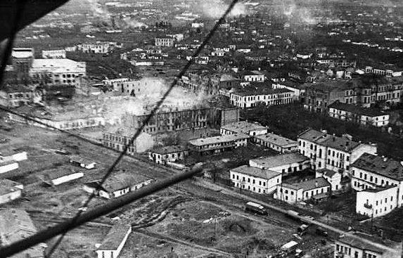 Умань с высоты. Март 1944 г.