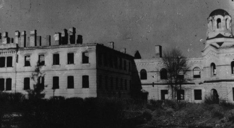 Руины в городе. Март 1944 г.