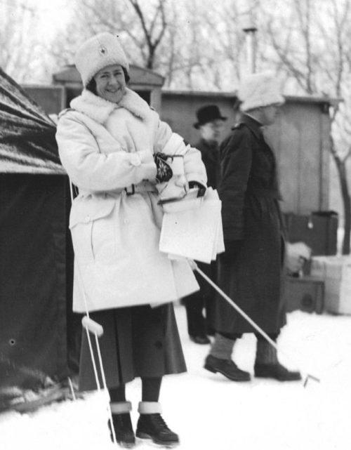 Представительница Красного Креста Финляндия. Январь 1940 г.