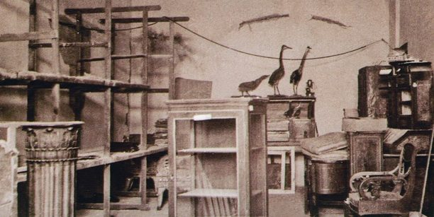 Разграбленная немцами экспозиция краеведческого музея. Апрель 1944 г.
