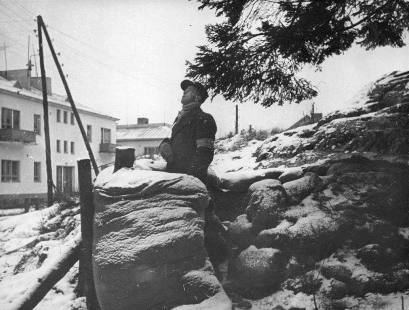 Финский доброволец – воздушный наблюдатель. Январь 1940 г.