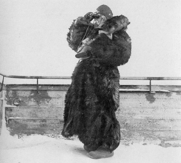 Финская «лотта» на посту ПВО. Январь 1940 г.