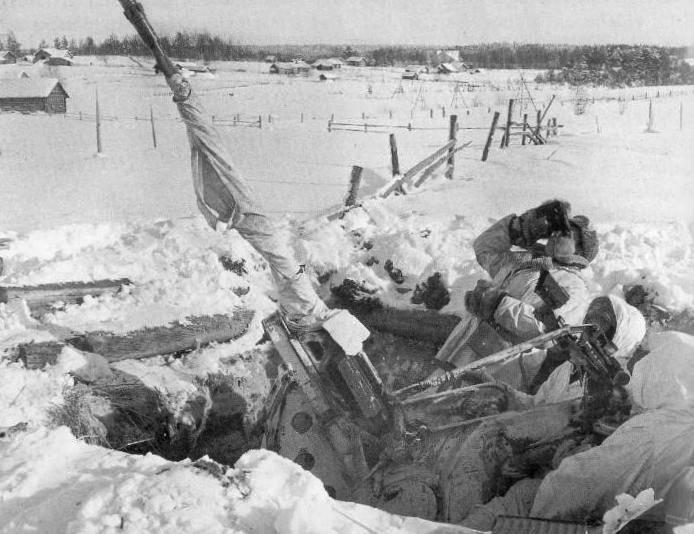 Финская зенитная позиция. Январь 1940 г.