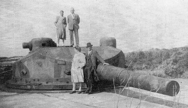 Башня с 240-мм орудием батареи «Brandenburg».