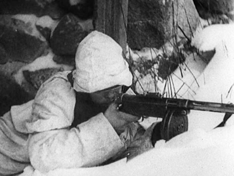Финские солдаты на позиции. Февраль 1940 г.