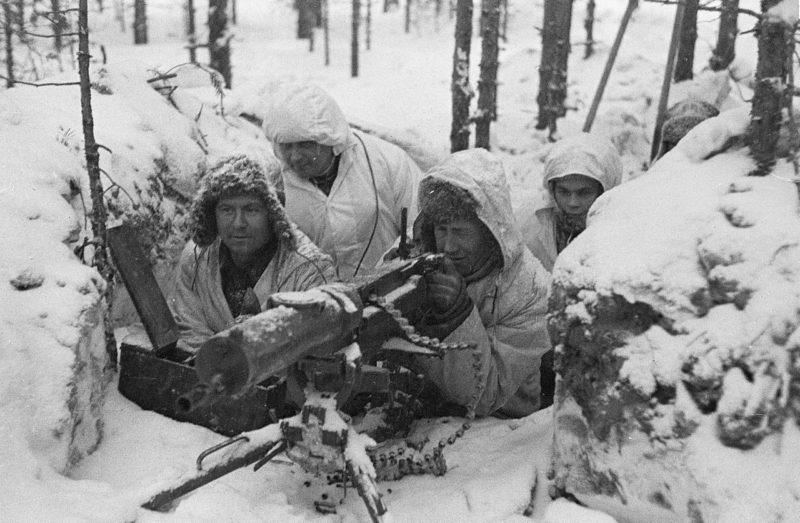 Финское пулеметное гнездо. Февраль 1940 г.