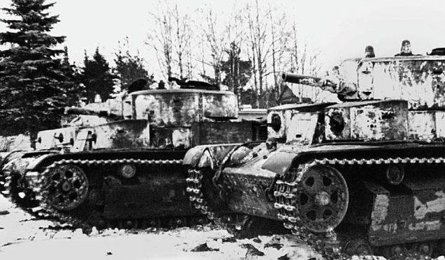 Танки перед выходом на боевую операцию. Февраль 1940 г.