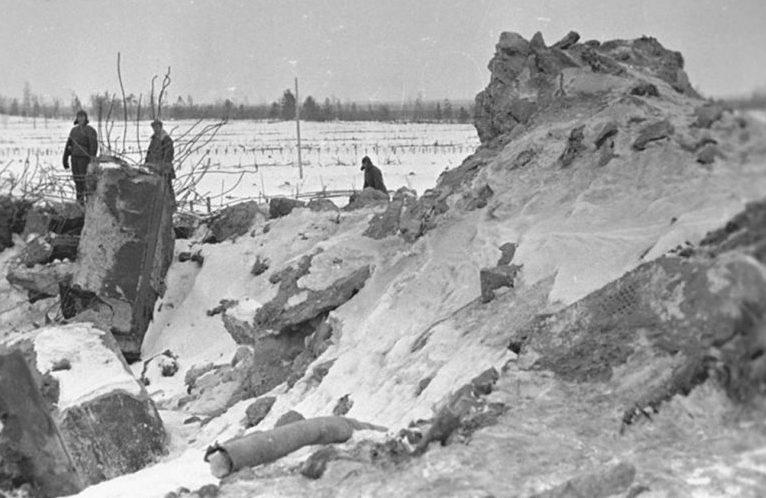 Общий вид разрушений «Линии Маннергейма». Февраль 1940 г.