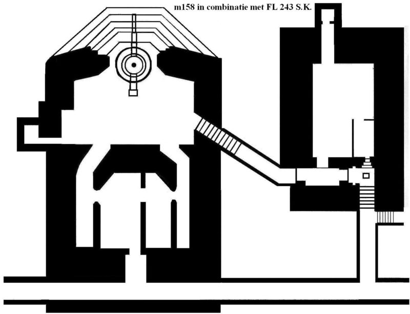 План бункера типа М158 в сочетании с бункером FL 243.