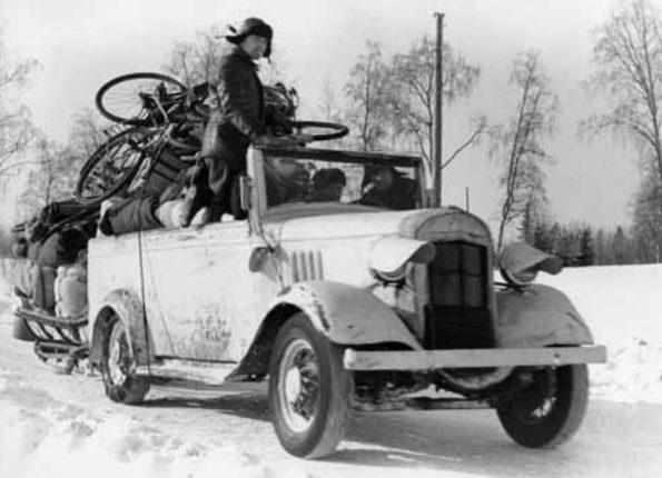 Эвакуационный финский транспорт. Февраль 1940 г.